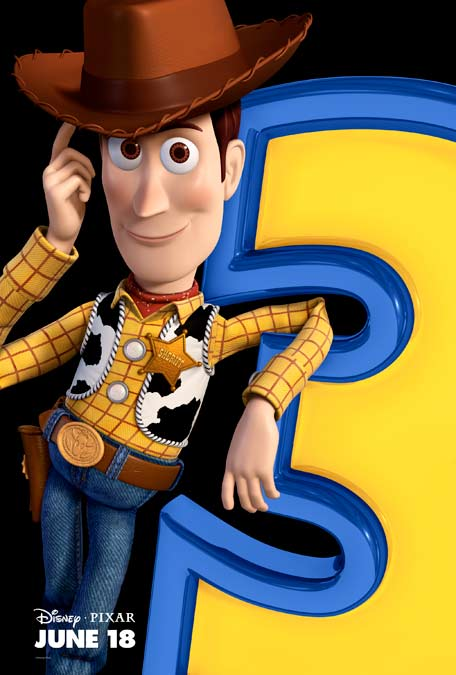 Toy Story 3 Woddy character movie poster