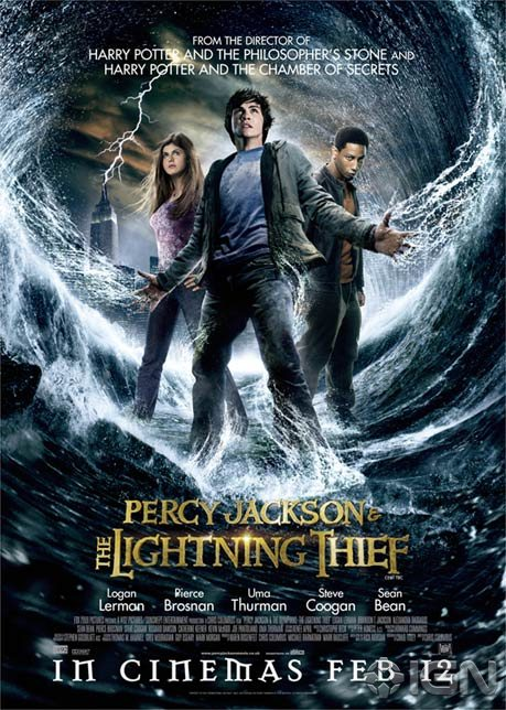 Image result for The Lightning Thief movie poster